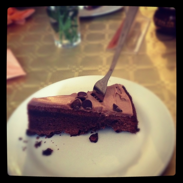 Tarta de chocolate en Carmencita Bar