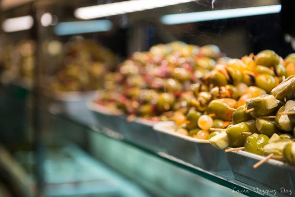 Aceitunas en el Mercado de San Miguel