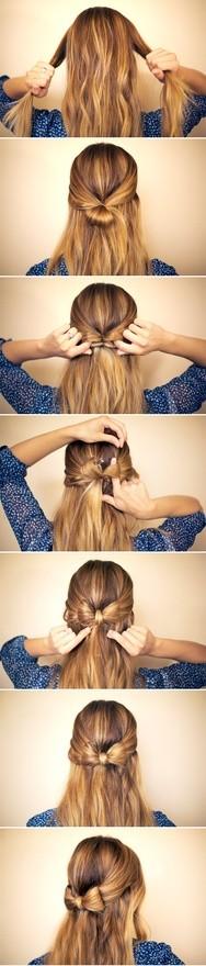 lazo hecho con el pelo