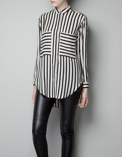 Zara 29,95euros camisa rayas bolsillos