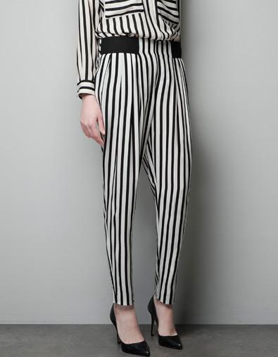 Zara pantalón estampado rayas 25,95euros