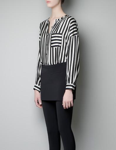 Zara blusa rayas bolsillo 29,95euros