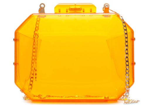 Bolso Zara Metacrilato Naranja