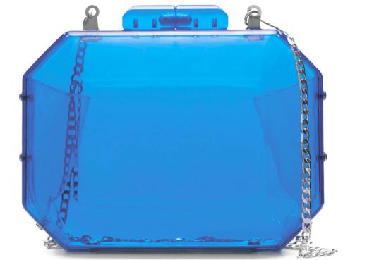 Bolso Zara Metacrilato Azul