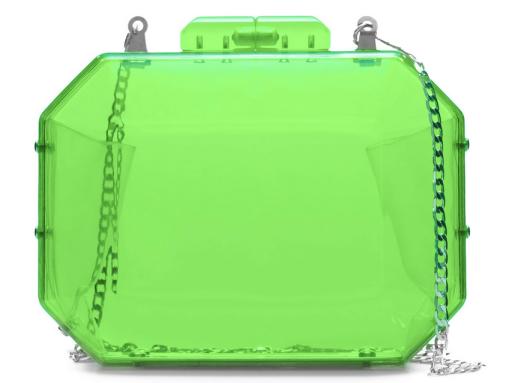 Zara Bolso Metacrilato Verde