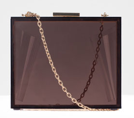 Bolso caja transparente marrón Stradivarius