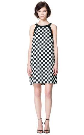 vestido damero Zara