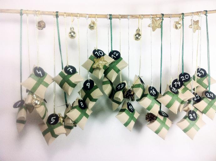 Calendario de adviendo de rollos de papel higiénico