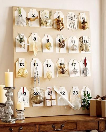 calendario de adviento adornos navideños