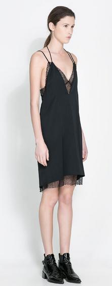 vestido lencero Zara 89,95