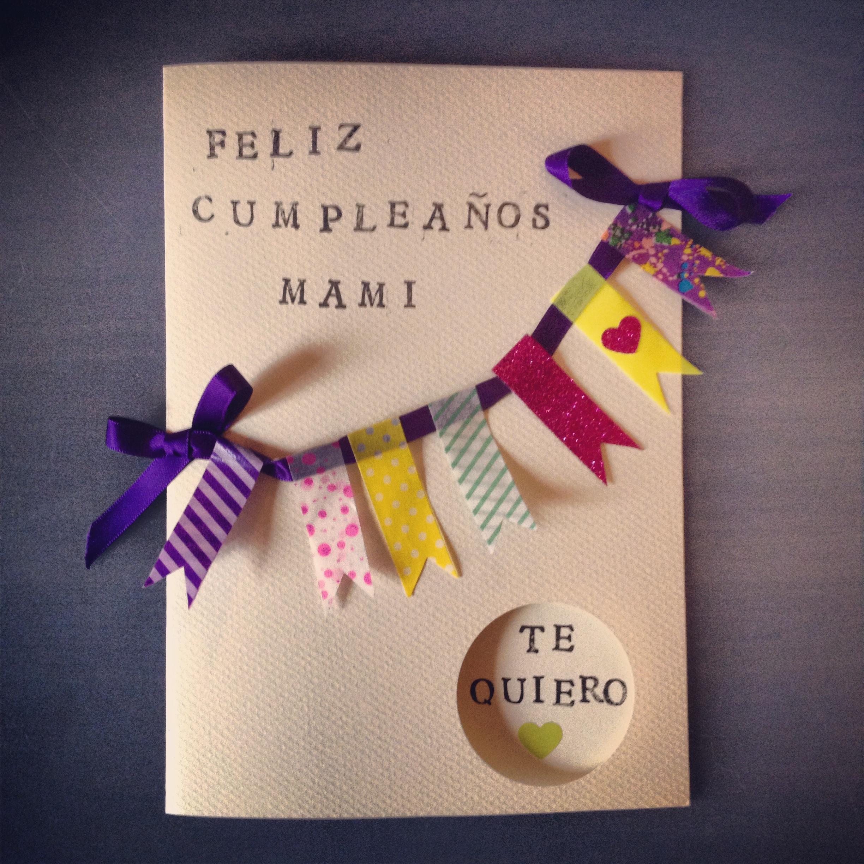 Diy tarjeta de cumplea os para mami miss galician pie - Tarjetas de cumpleanos hechas a mano faciles paso a paso ...