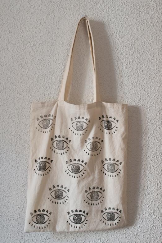 DIY bolsa tela estampado ojos-003