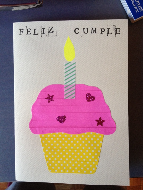 Postal cumpleaños cupcake