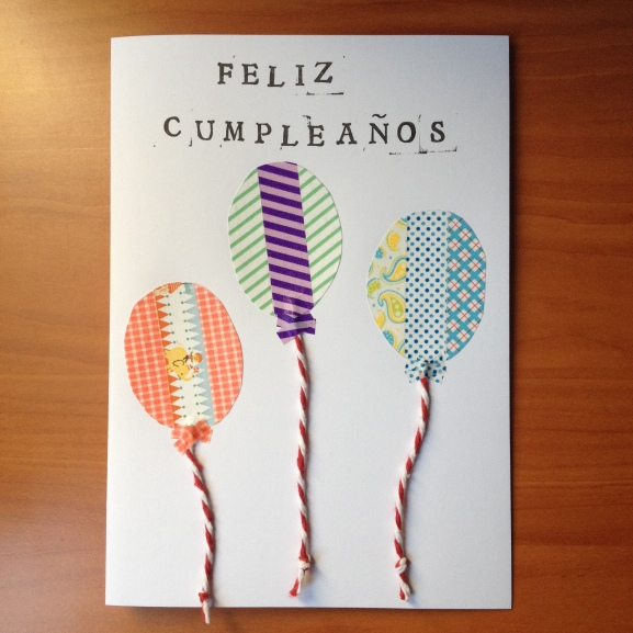postal cumpleaños globos