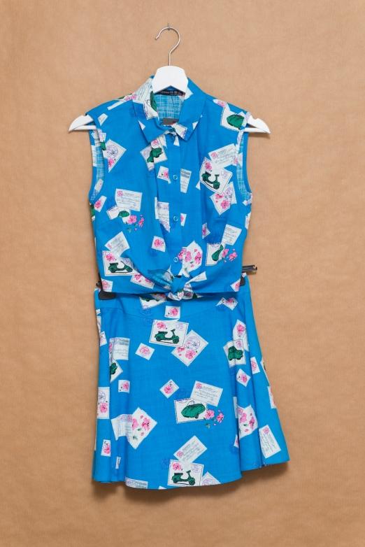 Primark conjunto camisa anudada falda skater-001