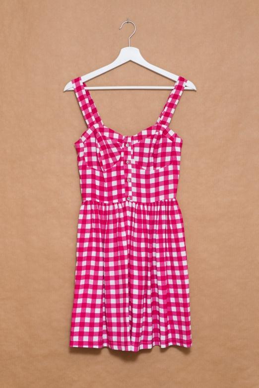 Primark vestido cuadros rosas fucsias-001